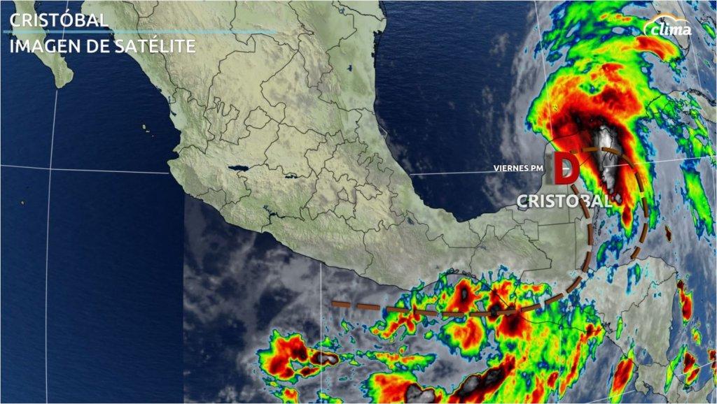 Imagen satelital de Cristóbal