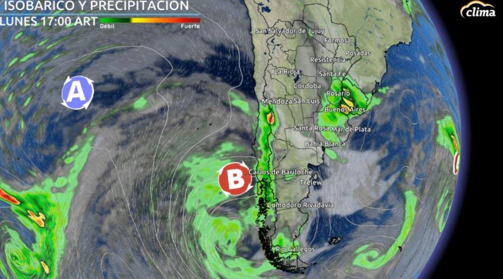 Previsión del tiempo en Argentina