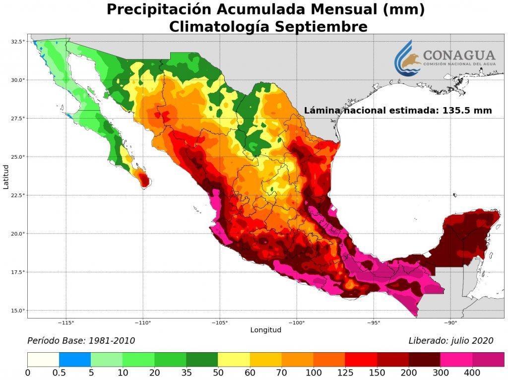 Climatología: Precipitación Acumulada Septiembre en mm