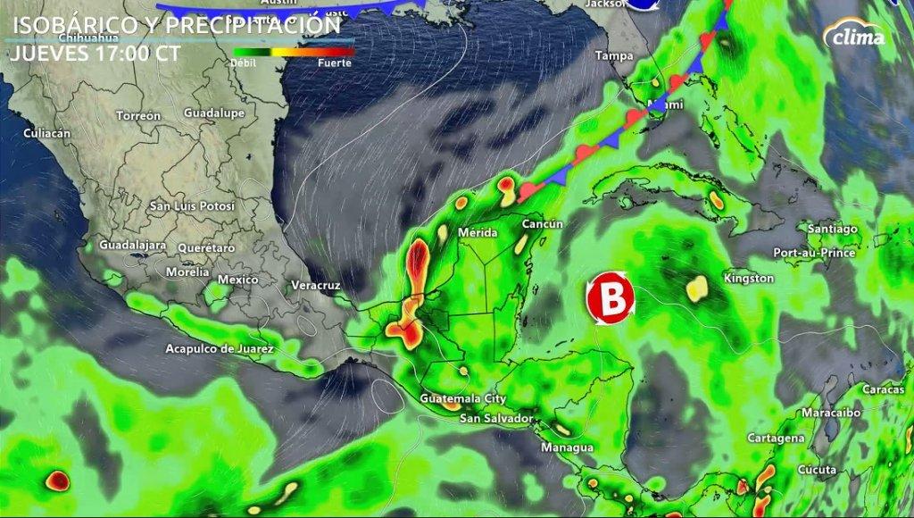 Onda Tropical puede tener desarrollo tropical al llegar al Caribe Occidental. Situación en superficie el jueves