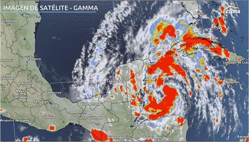 Imagen satelital de Gamma