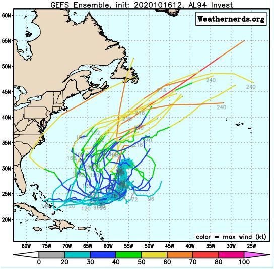 Modelo americano muestra el conjutno de posibles trayectorias