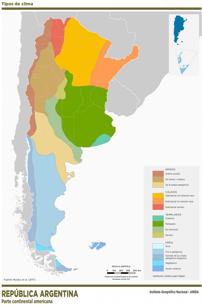 Tipos de Clima en Argentina