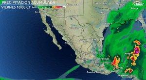 Evento de 'norte' y lluvias fuertes en el sur de México