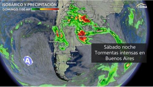 Alerta por tormentas muy fuertes y destructivas en Buenos Aires