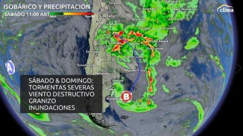 Alerta por tormentas muy fuertes y destructivas este fin de semana