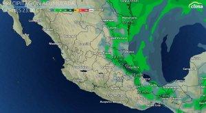 Frente regará el este de México