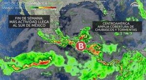 Fenómeno llega al sur de México: Lluvias y tormentas torrenciales...y posible ciclón