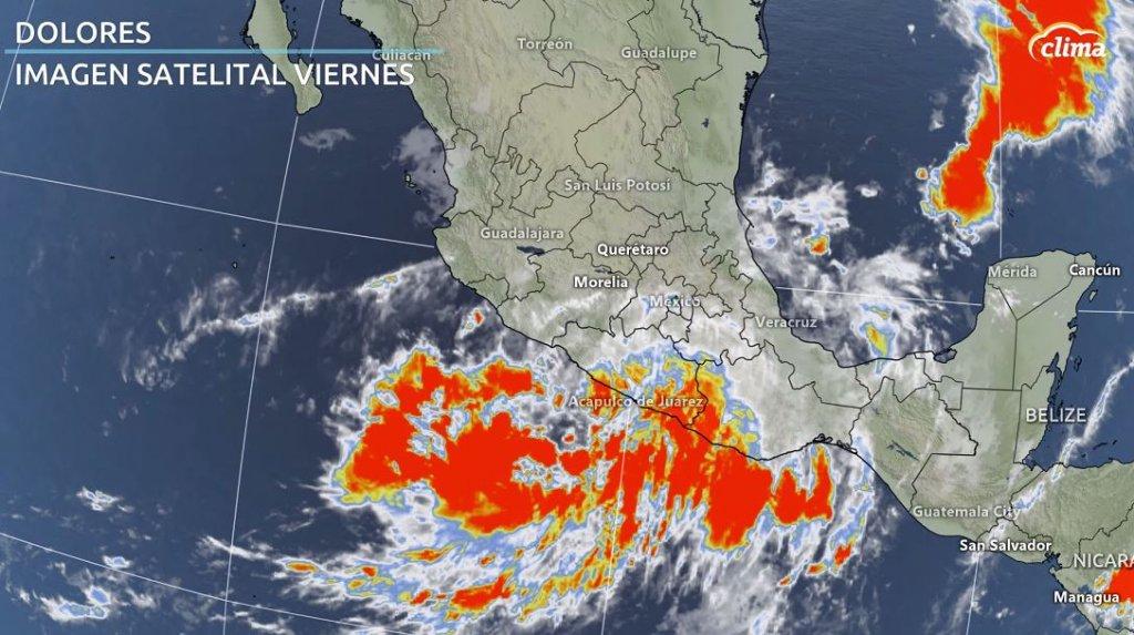 Imagen satelital de Dolores el viernes por la tarde