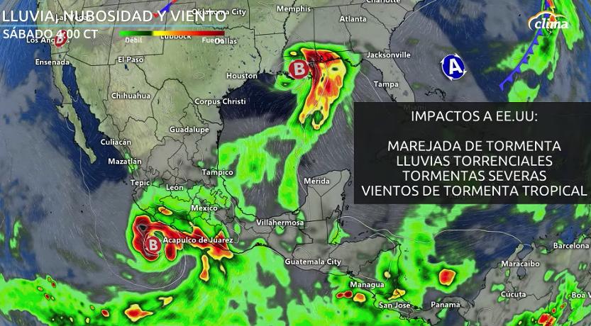 Impactos para algunos de los estados costeros al Golfo de México