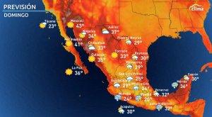 Fin de semana de mucha lluvia en México: Toda esta agua caerá