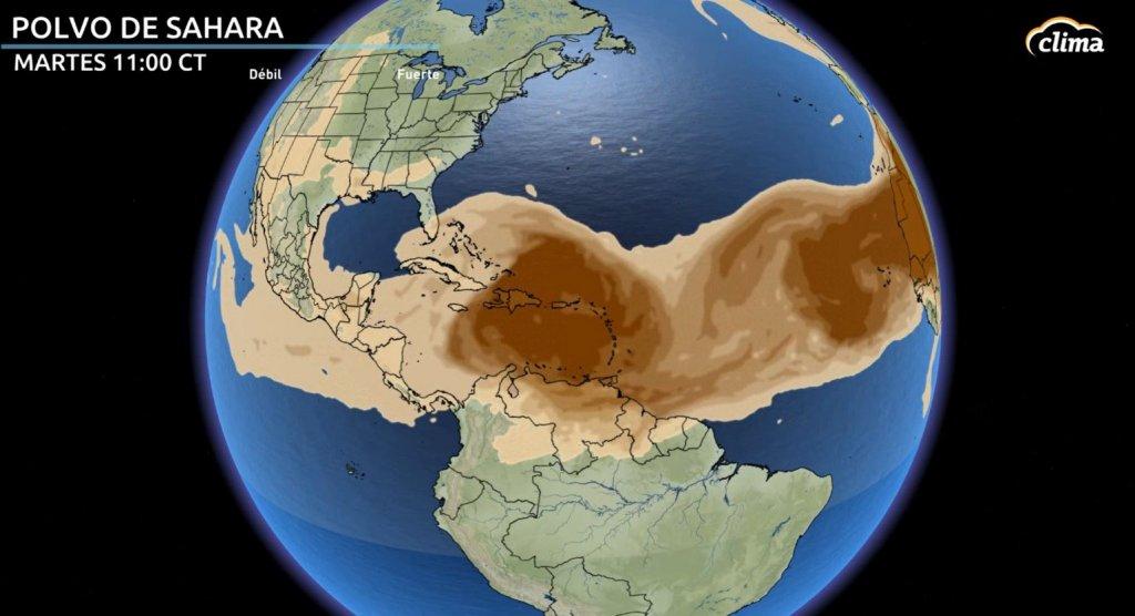 Polvo del Sahara llega a Puerto Rico, República Dominicana y Haití el martes.