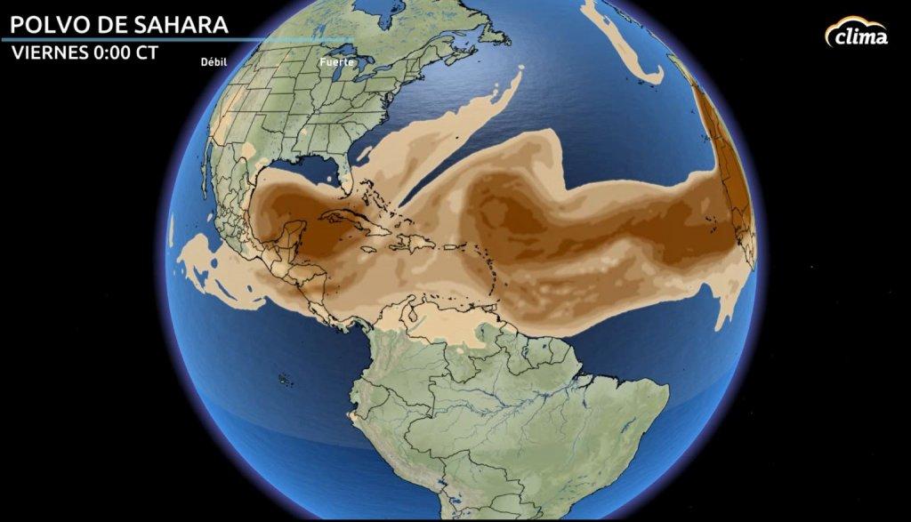 Polvo del Sahara llega a las Américas la semana del 18 de julio.