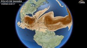 Llega una densa capa del Polvo del Sahara a las Américas