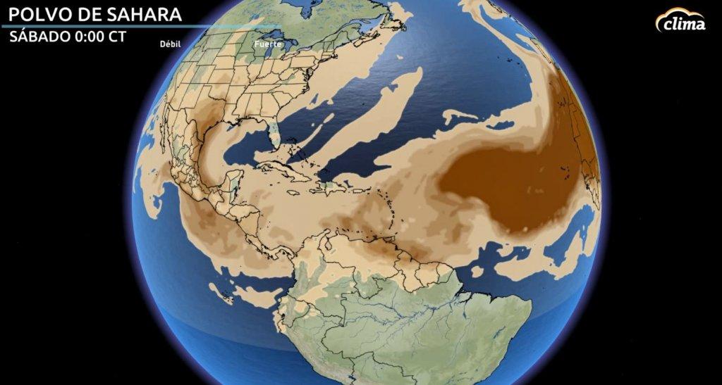 Polvo del Sahara llega a partes del Caribe el sábado y domingo.