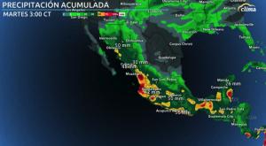 Perturbación en México traerá lluvias intensas
